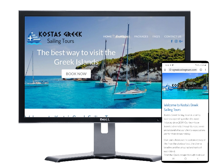 kostas greek sailing tours by Fast Cheap Websites