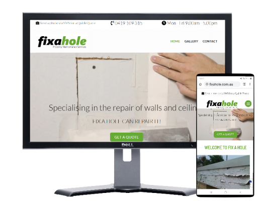 fix a hole melbourne, website by Fast Cheap Websites