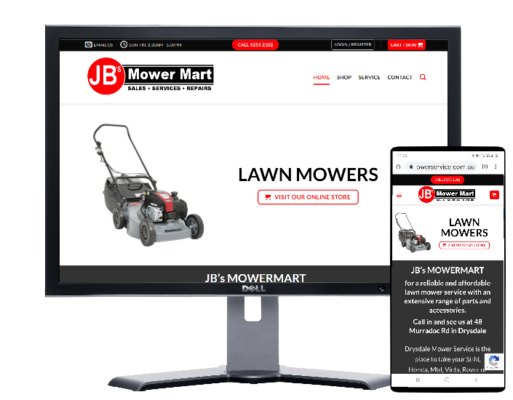 jb mower mart drysdale by Fast Cheap Websites