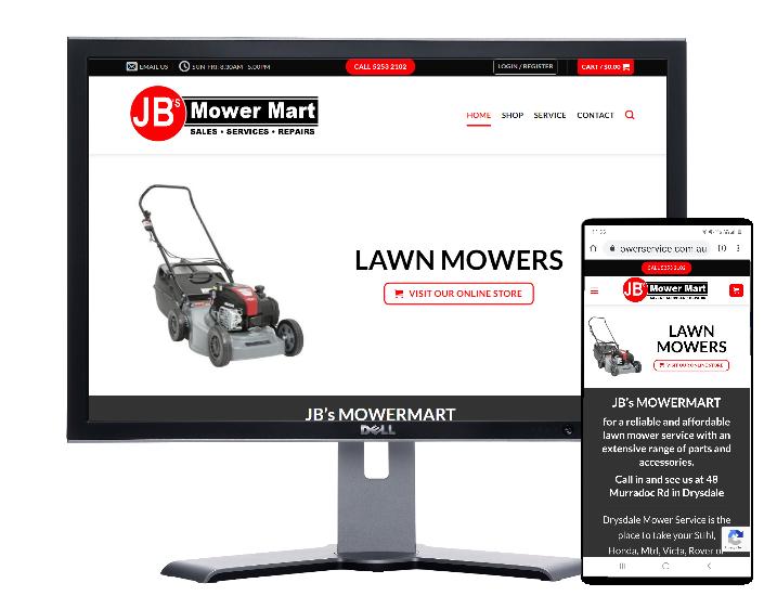 jb mower mart drysdale by Fast Cheap Websites