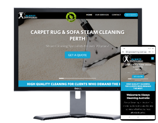 Upholstery Steaming Services Perth-Website by Fast Cheap Websites