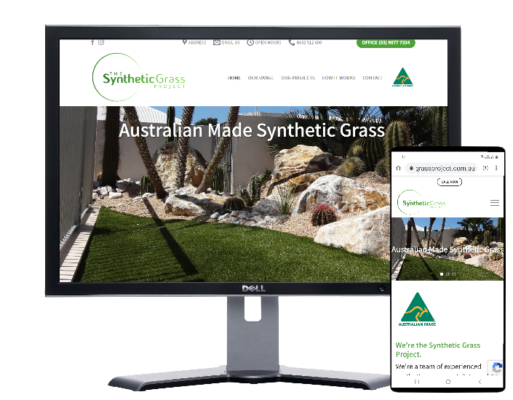 synthetic grass project- artificial fake grass- Website built by Angie from Fast Cheap Websites
