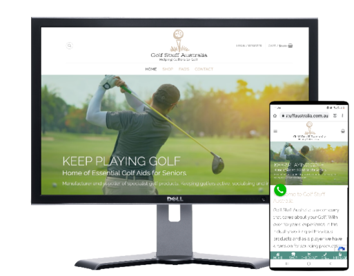 Golf Stuff Australia-built by Fast Cheap Websites
