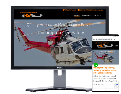 Heli Services Australia -built by Fast Cheap Websites