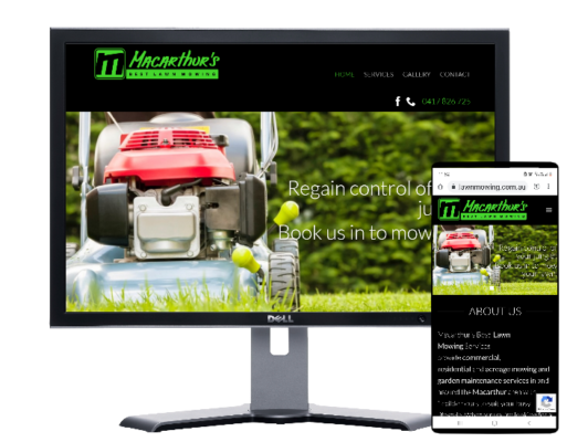 Macarthur's Lawn Mowing Services-built by Fast Cheap Websites